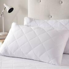 Luxury Quilted Zipped Pillow Protectors Soft Pillows Pair 100% Cotton Pack of 4