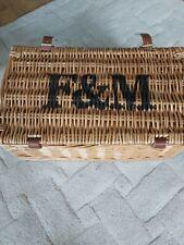 Fortnum and mason hamper basket with handle