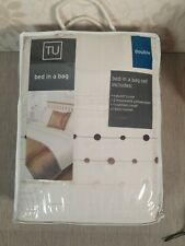 TU Bed In a Bag bed set (DOUBLE) Cream Gold Brown