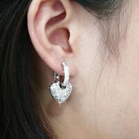 Luxury 925 Silver Drop Earrings for Women White Sapphire Jewelry A Pair/set