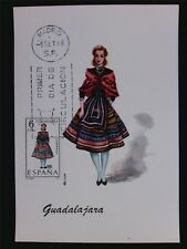 SPAIN MK 1968 TRAJES GUADALAJARA COSTUME MAXIMUMKARTE MAXIMUM CARD MC CM c6088