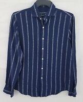 Tasso Elba Island Men's Boucle Stripe Linen Shirt 100005344