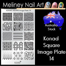 Konad Square Image Plate 14 for Stamping Nail Art Transfer Stencils Patterns