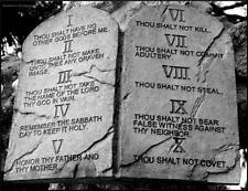 """Stone Tablet Print of  THE TEN COMMANDMENTS  8"""" x10"""" ready to be framed"""