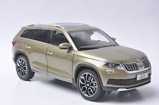 Skoda Kodiaq car model in scale 1:18 gold