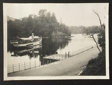 PHOTOGRAPH Loch Katrine STEAMSHIP 1939 Scotland 8.4cm x 5.8cm TROSSACHS Ship 535