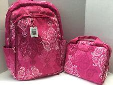 Vera Bradley Lighten Up Laptop Backpack STAMPED PAISLEY & Lunch Cooler SET NEW🌺
