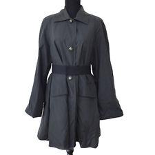 FENDI Logos Belted Long Sleeve Coat Jacket Black Italy Authentic AK45059