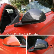 Carbon Fiber ABS Side Rearview Mirror Cover Trim For 2015-2018 Ford Mustang