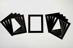 Pack of 50 Photo / Picture Mounts - White, Black or Cream