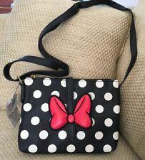 NWT Disney Parks Minnie Maus Crossbody Rot Schleife Polka Dots