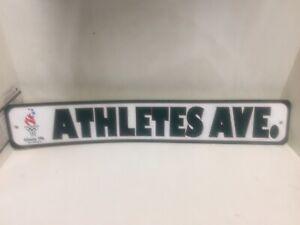 Vintage 1996 Atlanta Olympics Sign Athletes AVE.Man Cave Free Shipping Beer Sign