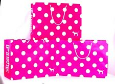 Victoria's Secret PINK Polka dots Shopping Bags Gift paper Set 3 pieces