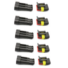 5Ps/Set Waterproof Auto Electrical Wire Cable 3 Pin Way Connector Plug Terminals