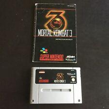 Super Nintendo Entertainment System Game - Mortal Kombat 3 - PAL Version SNES