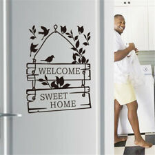 welcome sweet home wall stickers wall decals decorative door sign decoration BC
