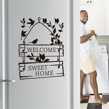 welcome sweet home wall stickers wall decals decorative door sign decorationHFDI