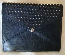 NIB Rebecca Minkoff Spikey Studs Black Leather iPad Case MSRP $195
