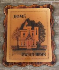 "19 x 23"" Home Sweet Home plaque vintage handmade picture sign wood victorian"