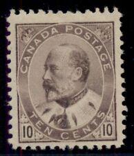 CANADA #93 10¢ brown lilac, og, NH, VF, Miller certificate, Scott $1,050.00