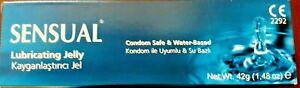 Sensual  Lubricating Jelly Gel Water Based Condom Safe 42g NEW ( UK SELLER )