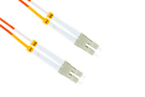 LC to LC Multimode Duplex 62.5/125 OM1 Fiber Patch Cable, 3 Meters, Lifetime Wty
