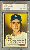 1952 Topps #159 Saul Rogovin Chicago White Sox PSA 5 Excellent