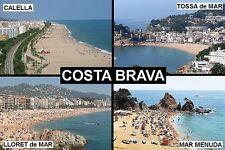SOUVENIR FRIDGE MAGNET of THE COSTA BRAVA TOSSA DE MAR LLORET CALAELLA
