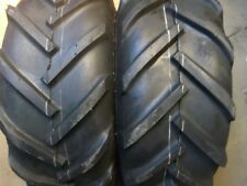 TWO 23/10.50x12 JOHN DEERE R1 Lug Gravely Lawn Tires & TWO 16/6.50-8 Rib Tires