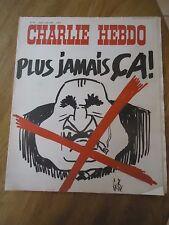 CHARLIE HEBDO N°177 MORT PRESIDENT POMPIDOU REISER GEBE CABU 8 avril 1974
