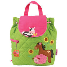 Stephen Joseph Quilted Girl Farm Backpack - Cute Toddler Preschool Bags