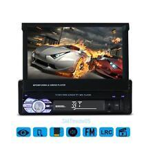 7'' Telescopic Screen 1 Din Dash Car Radio Stereo Video Player GPS Bluetooth MP5