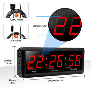 1.5 inch Digital Wall Clock Wall Timer Interval Timer Stopwatch Fit Office Home