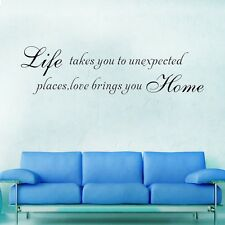 Removable LIFE & LOVE Quotes Wall Stickers Art Mural DIY Vinyl Room Decor