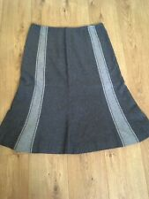 Country Casuals Petite Size 16 Grey Wool Skirt