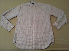 Mens vineyard vines Plaid Dress Shirt M Medium Blue Pink Button Cotton