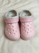 Croc Pink Kids Girls Slippers Size 6