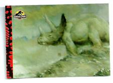 "1993 Topps Jurassic Park Deluxe Gold Foil Card #4 ""Triceratops Eating Flowers"""