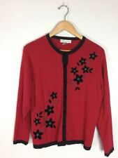 Red And Black Dressbarn Petites Sweater, Size PL