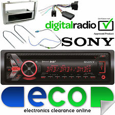 Peugeot 308 SONY DAB CD MP3 BLUETOOTH STEREO AUTO VOLANTE SILVER Facia KIT