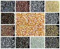 CHOOSE COLOR! 10g 11/0 (2mm) Etched Seed Beads Czech Glass