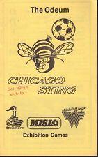 The Odeum Chicago Sting Misl Exhibition Games 1982 Program jhc