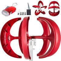 Wind Turbine Generator 600W 24V W/Charge Controller Solar Power Lanterns Red