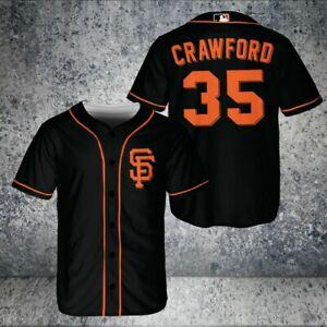 Brandon Crawford San Francisco Giants Baseball Jersey Black Size XS-5XL
