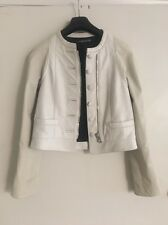 Balenciaga leather white off jacket coat size 38