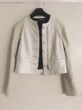 Balenciaga leather white off jacket coat size 38