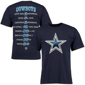 Dallas Cowboys Men's Gloss Stats T-Shirt - Navy