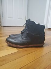Tsubo Winslow S/N II Men's Wingtip Brogue Boots Size 10 Leather Black