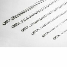 "10k Solid White Gold Cuban Link  Chain Necklace 2-7mm Men's Women Sz 16""-36"""