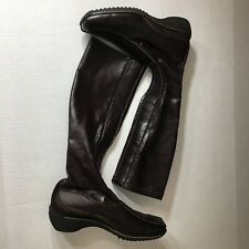 PAUL GREEN Mid Brown Leather Women's Size 5.5 Boots Shoes Pull On New